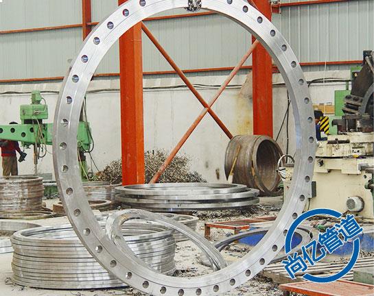 大口径卷制平焊法兰产品展示